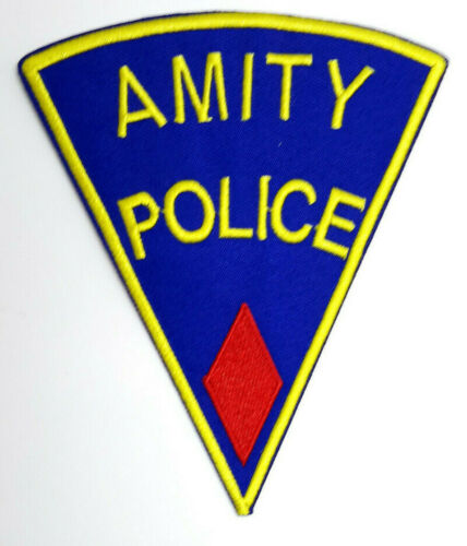 """APPA-02 Mailed from USA JAWS Movie RED Amity Police  5/"""" Embroidered Patch"""