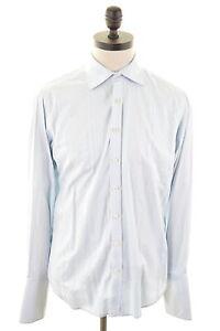TED-BAKER-Mens-Shirt-Size-39-Medium-Blue-Cotton