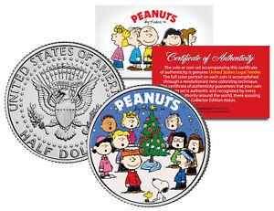 PEANUTS-Gang-CHRISTMAS-Tree-Carolers-JFK-Half-Dollar-Coin-CHARLIE-BROWN-amp-SNOOPY