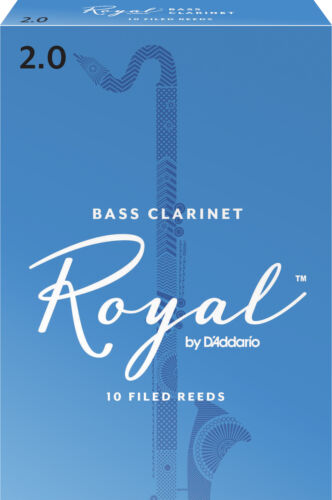 Royal by D/'Addario Bass Clarinet Reeds Strength 2 10-pack