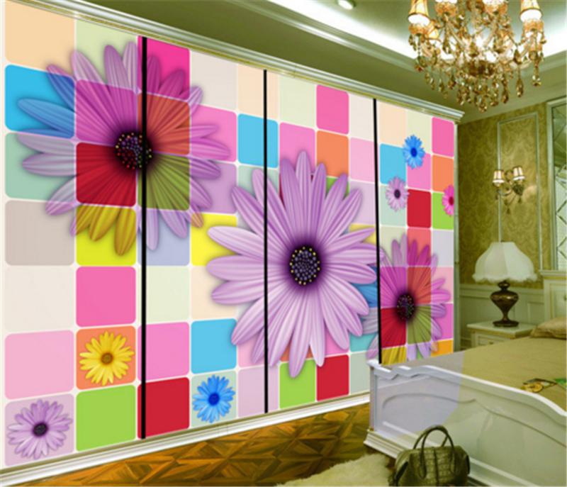 3D Plaid Flowers 83 Wallpaper Mural Paper Wall Print Wallpaper Murals UK