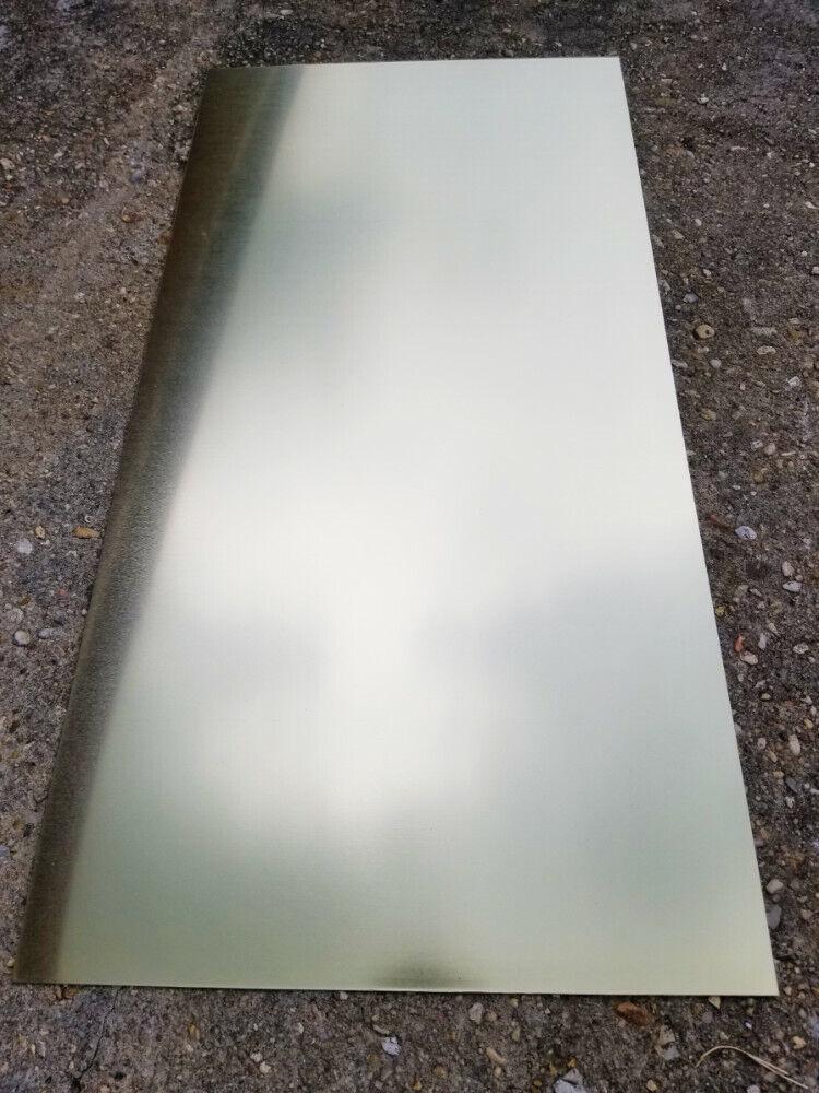 """Brass Sheet Plate .025/"""" 22 gauge 2/"""" x 48/"""""""