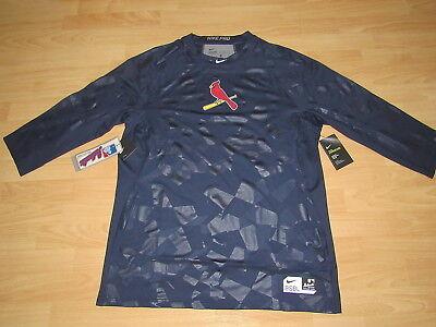 Authentisch St Louis Cardinals 3/4 Ärmel Nike Pro Hypercool Trikot Herren 2xl Baseball & Softball Sport