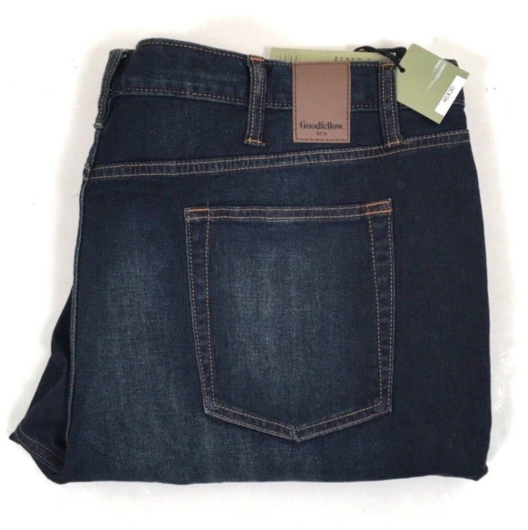 New Goodfellow Denim Slim Straight Leg Flex Jeans Big & Tall 46 x 30 Men's 46x30