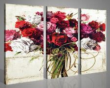 Quadri moderni Rose Mix Painting astratti tela stampe su tela canvas 130 x 90