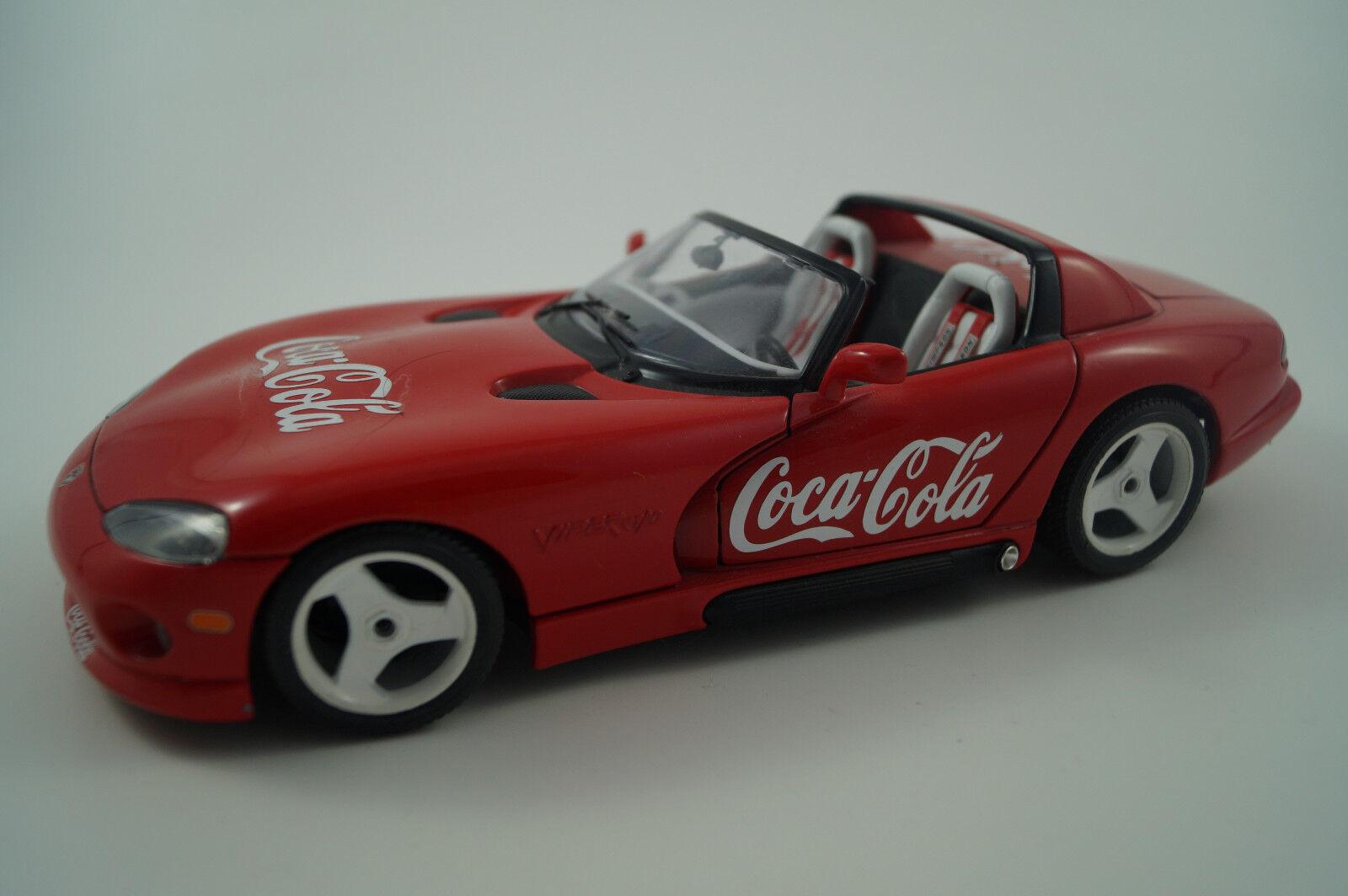 BBURAGO BURAGO voiture miniature 1 18 Dodge VIPER rt 10 Coca Cola