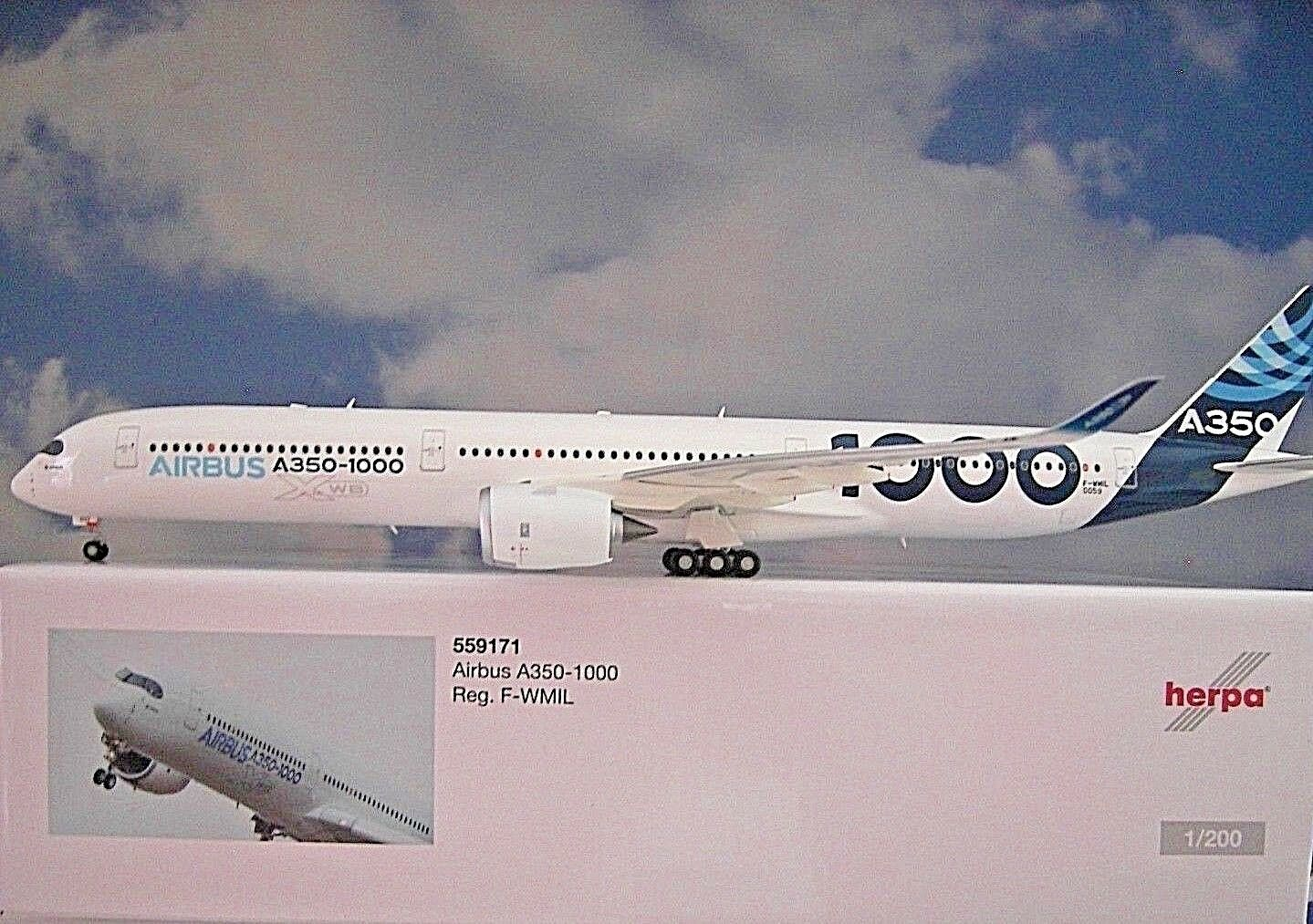 Herpa Wings 1:200 Airbus A350-1000 Airbus Industria F-Wmil 559171