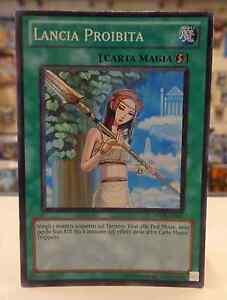 Gioco-Yu-Gi-Oh-Carta-Magia-LANCIA-PROIBITA-STOR-IT061-Super-Rara-ITALIANO-ITA-IT