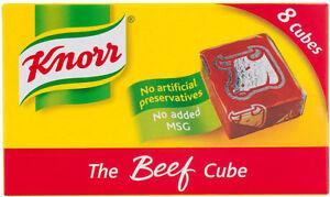Knorr-boeuf-Stock-CUBES-3-x-PAQUET-DE-8-Expedition-envoyer-MONDIAL