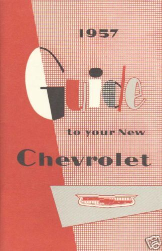 1957 CHEVROLET OWNERS MANUAL