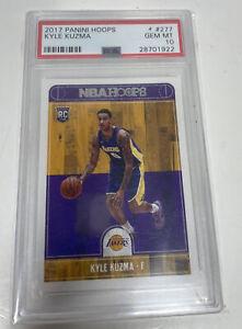 2017-18 Panini Hoops #277 Kyle Kuzma Lakers RC Rookie PSA 10 GEM MINT