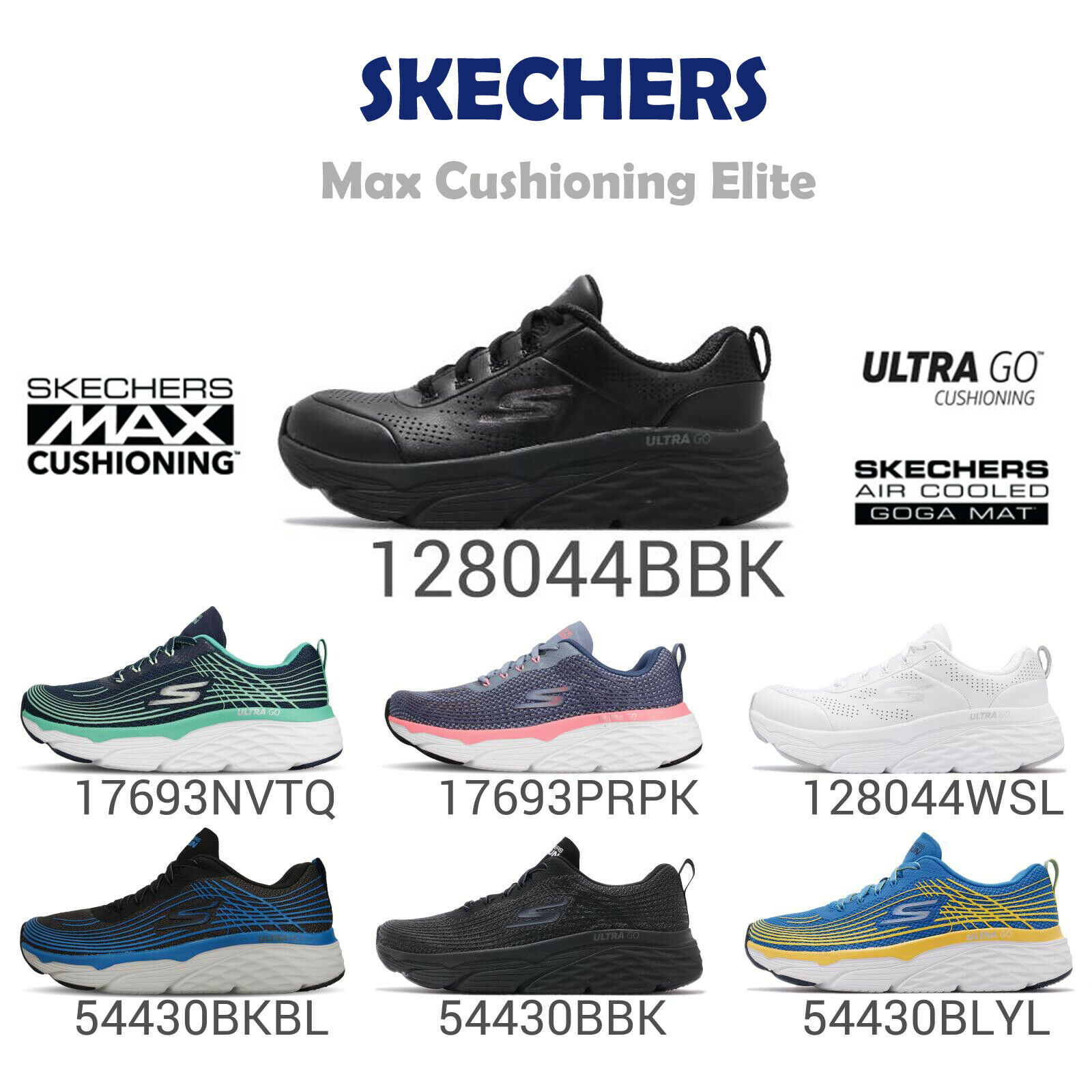 Skechers Max Cushioning Elite Step Up ULTRA GO Men Women Running Shoes Pick 1
