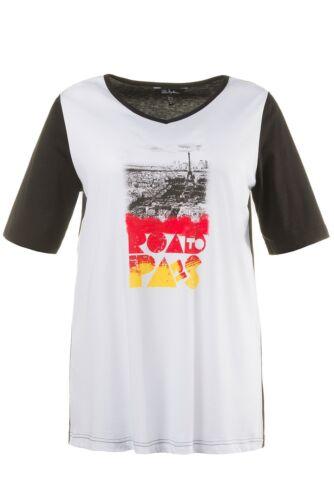 """ULLA POPKEN EM Shirt /""""Paris/"""" weiss NEU"""