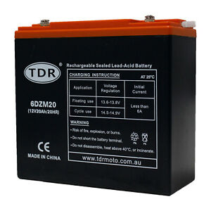 Mobility-Scooter-Golf-Buggy-battery-20AH-BATTERY-AGM-12-VOLT-DEEP-CYCLE-6DZM20