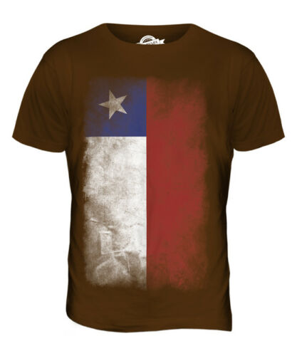 CHILE FADED FLAG MENS T-SHIRT TEE TOP CHILEAN SHIRT FOOTBALL JERSEY GIFT