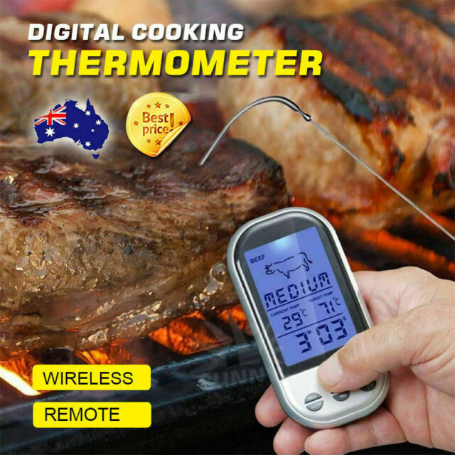 New Programmable Wireless Remote Digital Thermometer & Probe, Meat, BBQ, Grill