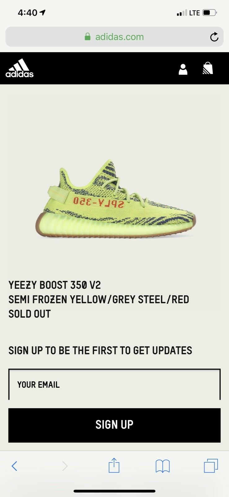 7cda3b5e6 ADIDAS YEEZY BOOST 350 V2 SEMI FROZEN YELLOW B37572 MENS SIZE 11.5 NEW WITH  BOX