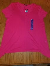 NWT Women/'s Rose Tropica TERRE BLEUE Cage Front Stretchy Tunic Size Medium M