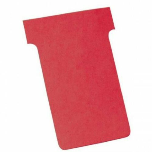 Nobo T-Card Size 3 Assorted Various Colours Pack of 100 Office Filing X9