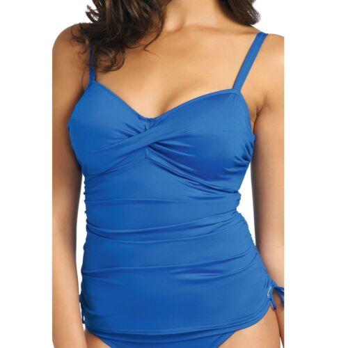 FANTASIE Swimwear Versailles Twist Sul Davanti Tankini Top Blu Windsor 5751