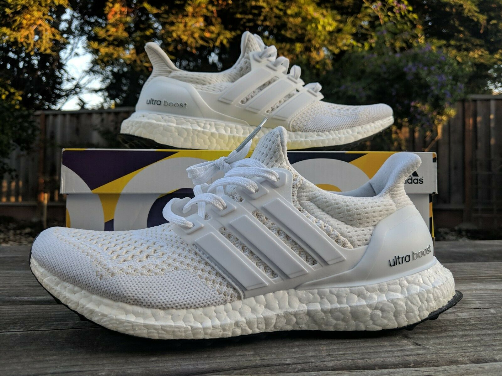 Adidas Ultra Boost 1.0 Triple White US 7 USED RARE