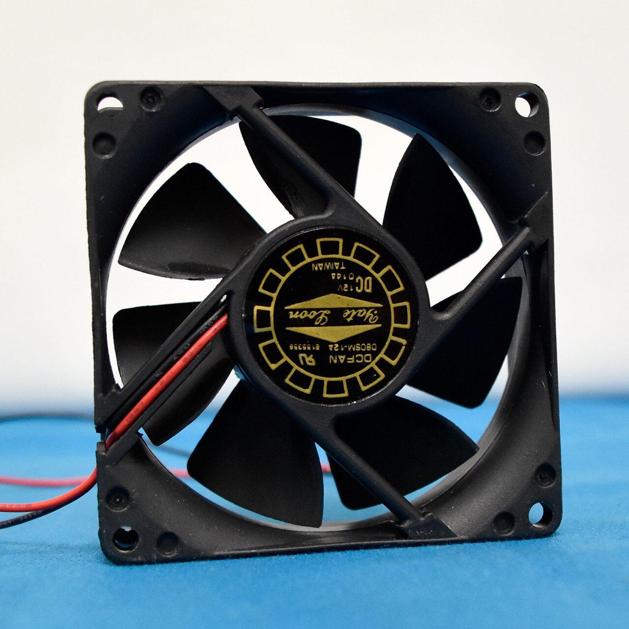 Yate Loon D80Sm‑12A Cooling Fan DC 12V .14A 2.5 x 80mm 2pin Cooling Fan