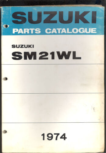 1974 SUZUKI SM21WL SNOWMOBILE PARTS MANUAL