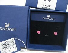 Swarovski Eros Rose Pierced Earrings Heart-Shaped Love Crystal MIB - 5007737
