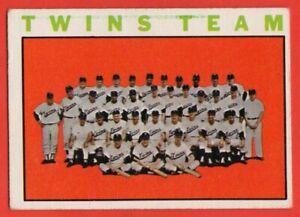 1964-Topps-318-Minnesota-Twins-Team-VG-VGEX-Harmon-Killebrew-Jim-Kaat-FREE-SHIP