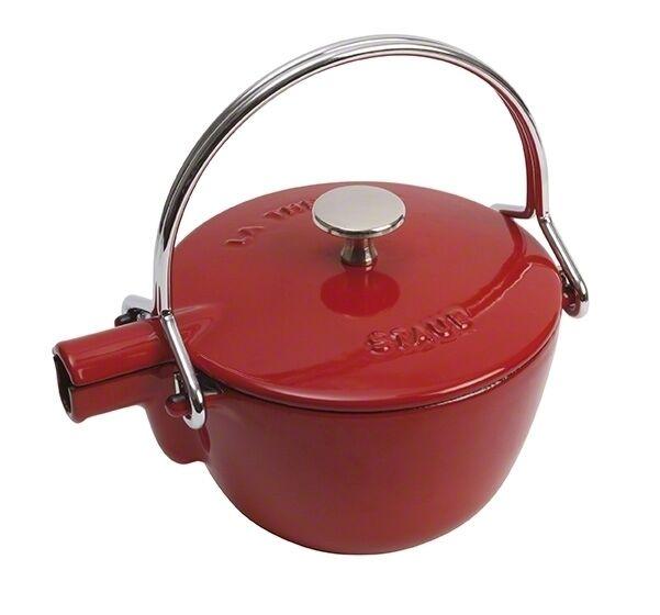 % STAUB Teekessel Teekanne Wasserkessel rund 1,15l Gusseisen kirschrot 40509-904     | Haben Wir Lob Von Kunden Gewonnen