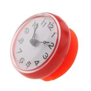 Détails sur Horloge de douche étanche Ventouse Salle de bain Cuisine  Horloge Mur /