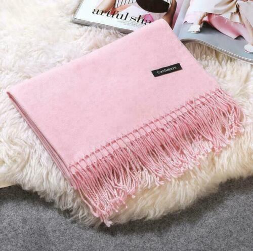 Women Lady Winter Plaid Knit Pashmina Scarf Warm Scarf Cashmere Long Wrap Shawl