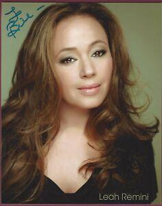 Leah Remini) , Schauspielerin, Signiert 20.3cm x 25.4cm mit Foto, COA, Uacc Rd