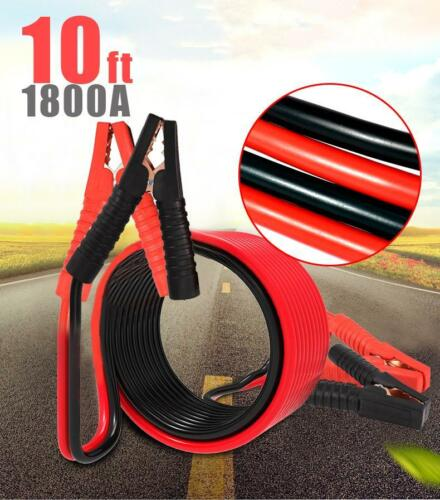 1800AMP 10FT//3M  Battery Booster Jumping Cables Power Jumper Emergency Heavy du