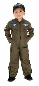 Details about Air Force Fighter Pilot Child Costume Toddler Flight Suit Military Green