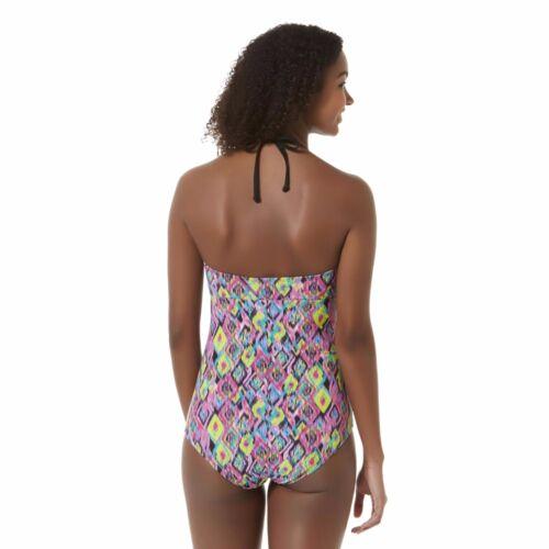 NEW Bongo Juniors Swimsuit Push Up Geometric Print One Piece size M
