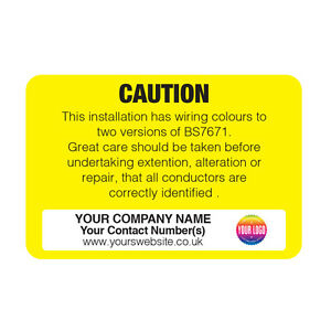Personalised Electrical Safety Warning Labels EARTHING CIRCUIT