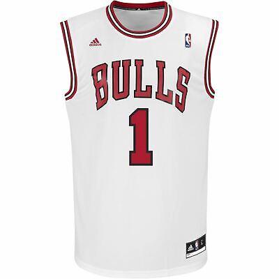 Adidas NBA Chicago Bulls Maillots Réplique XS S Rare Derrick Rose Basketball | eBay