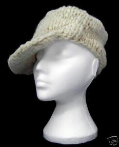 Image is loading ORIGINAL-womens-MANIYAK-HANDMADE-WOOL-HAT-cream-One- a56f76017b0
