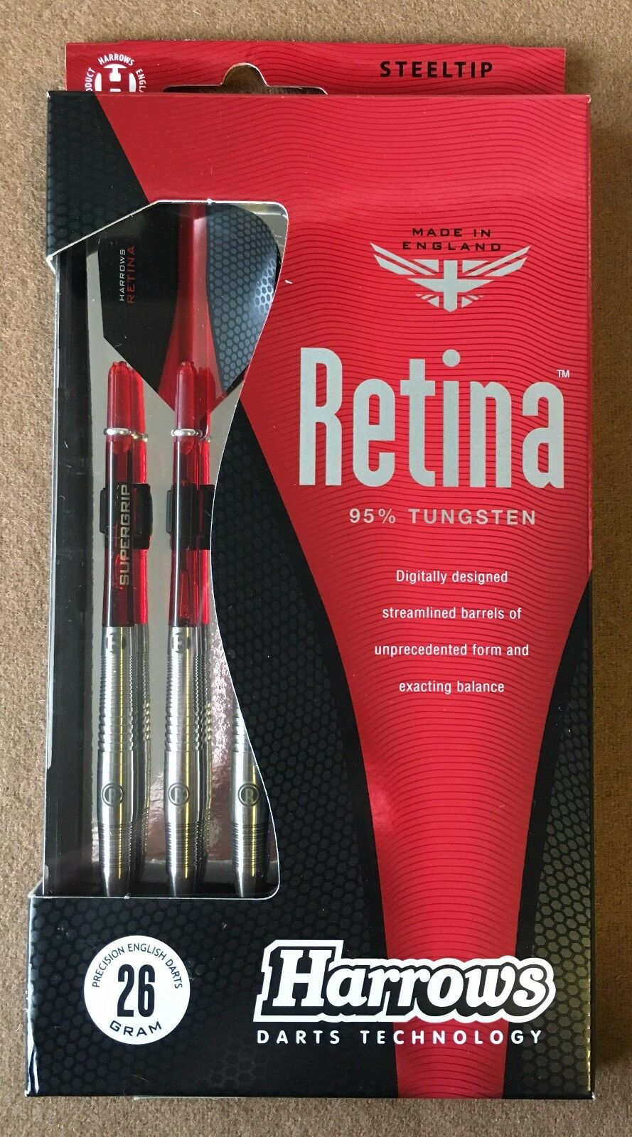 Harrows Retina 26g Steel Tip Darts w/ 95% Tungsten 51936 w/ Darts FREE Shipping 50e86f