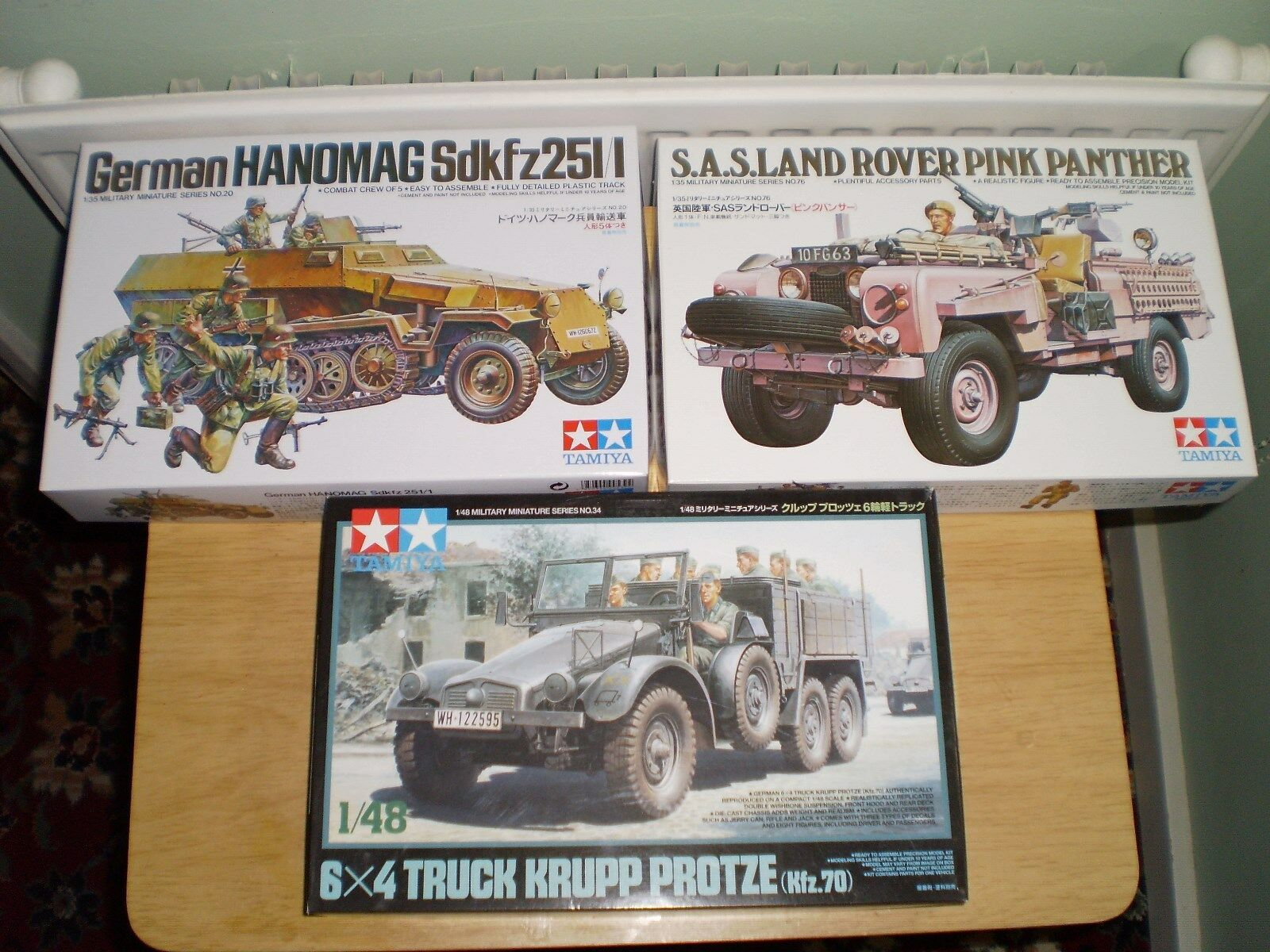 TAMIYA X2 1 35 AND 1 48 MILITARY MODEL KITS HANOMAG LAND ROVER KRUPP PredZE