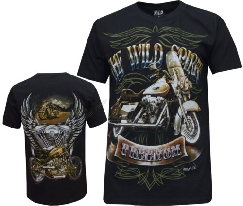 The Wild Spirit Eagle Biker Native American Indian Moto Motorcycle T-Shirt