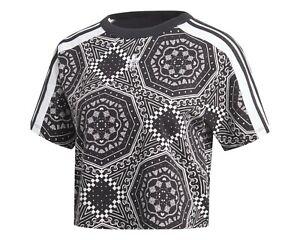 mostaza servilleta lanzamiento  Adidas recortada Caleidoscopio Tee All Over Print timbre top camiseta mujer  Talla M ~ ~ Nuevo con etiquetas | eBay