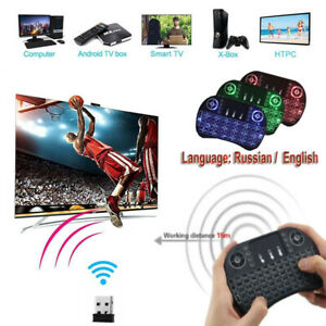 Color: English Version Calvas i8 Air Mouse Mini Wireless Keyboard With Touchpad 2.4GHZ Fly Air Mouse Remote Control For Android TV BOX Air Mouse Russian