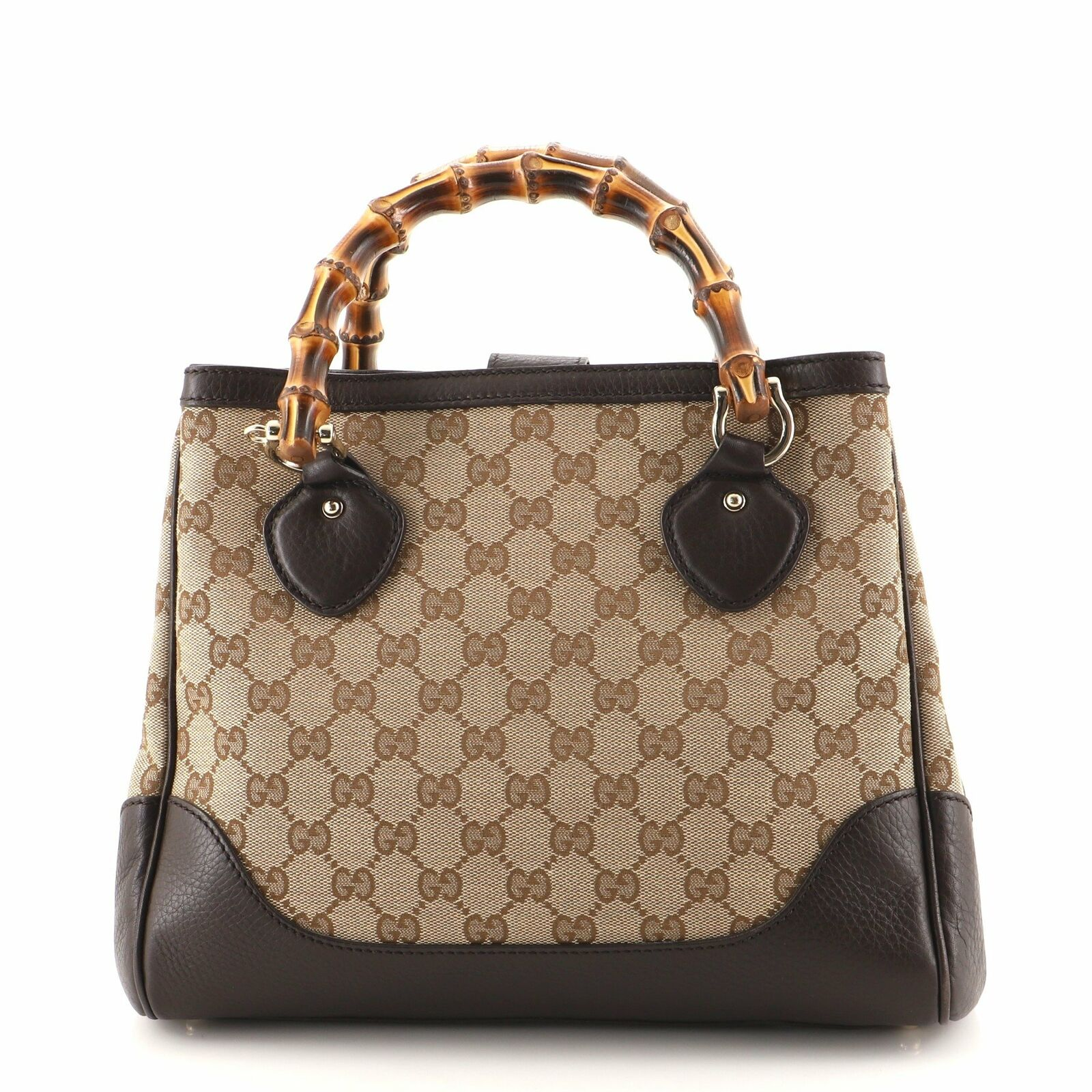 Gucci Diana Bamboo Top Handle Tote GG Canvas Small - image 4