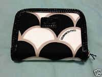 Lulu Guinness 50's Scallop Print French Zip Purse Wallet Authentic