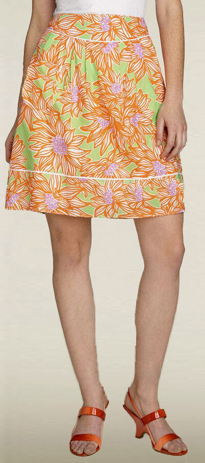 158 Lilly Pulitzer Fayette Avocado Green Crush Cotton Lawn Skirt 4