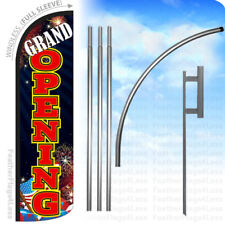 Grand Opening Windless Swooper Feather Flag 15 Kit Banner Sign Kq