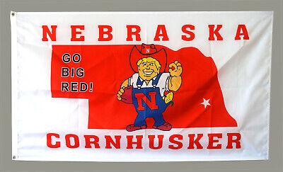 Nebraska Huskers Flag 3X5FT NCAA Banner US shipper