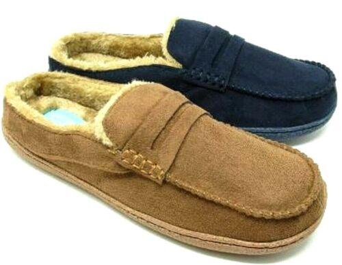 Hommes Qualité Coucher Pantoufles en fausse fourrure peau de mouton mocassin souple chaussures confort